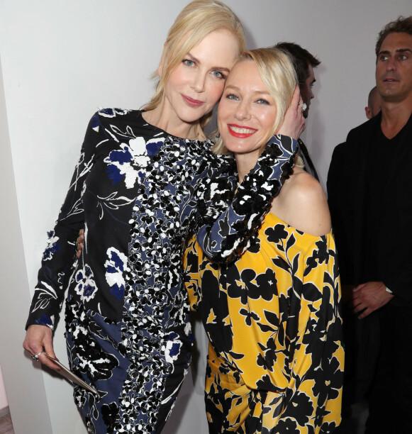 FANT TONEN SENERE: Nicole Kidman og Naomi Watts ble først gode venner flere år etter at de gikk i samme klasse. Foto: Matt Baron/ REX / Shutterstock / NTB