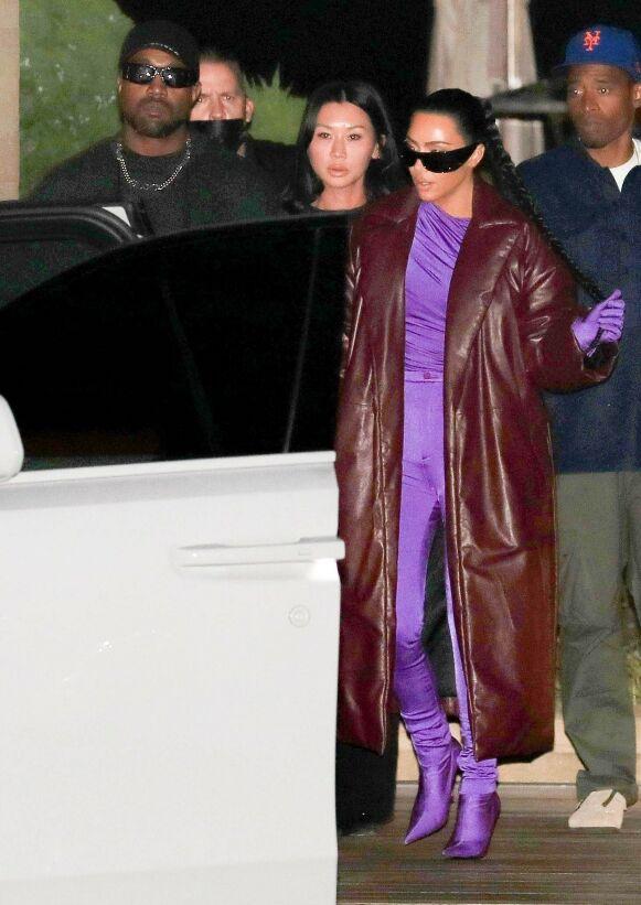 GODE VENNER: Kim Kardashian og Kanye West tilbringer fortsatt mye tid sammen, selv åtte måneder etter bruddet. Foto: Gumu, Pema / Backgrid USA / NTB