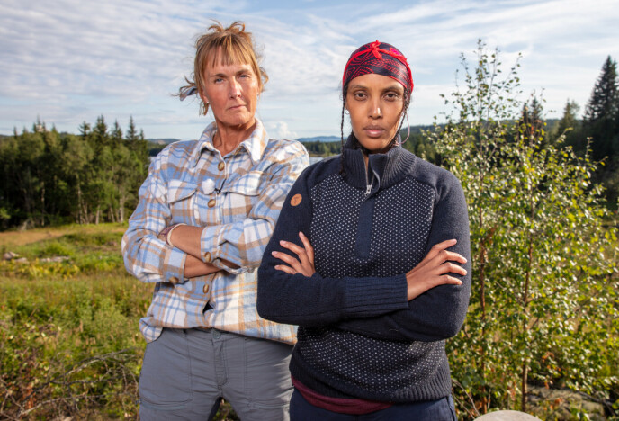 ISFRONT: Det var ikke veldig god stemning mellom Grethe Enlid og Sulekha Geele inne på «Farmen»-gården. Søndag nådde det et klimaks da de møtte hverandre i tvekamp. Foto: Alex Iversen / TV 2