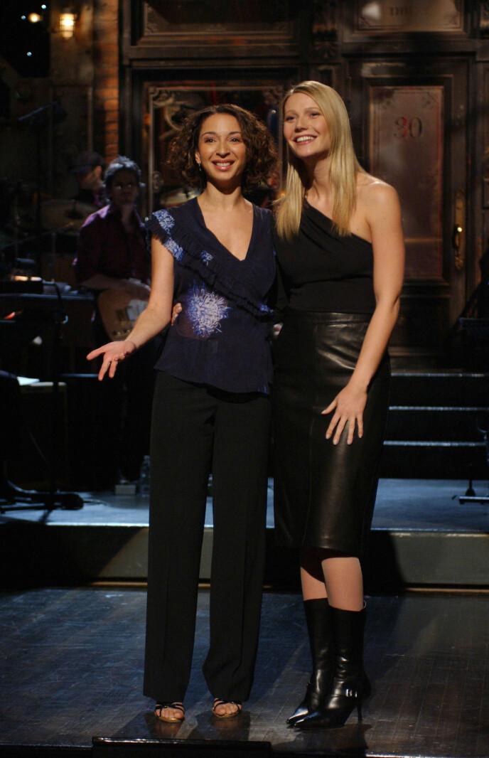 BARNDOMSVENNER: Maya Rudolph og Gwyneth Paltrow ble gode venner takket være fedrene sine. Her avbildet i 2002. Foto: Shutterstock Editorial / NTB