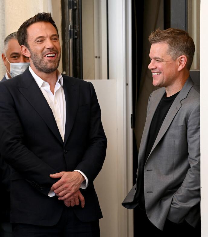 GODE VENNER FRA START: Ben Affleck og Matt Damon har klart å bevare vennskapet sitt i hele 40 år. Foto: David Fisher/Shutterstock / NTB