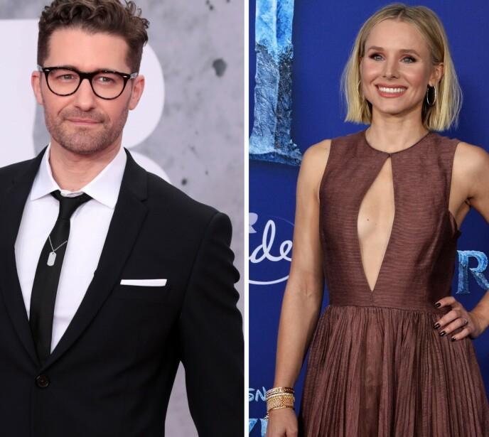 DATET: Kristen Bell og Matthew Morrison var på et tidspunkt mer enn bare venner. Foto: Splash News / Jim Ruymen / Shutterstock Editorial / NTB