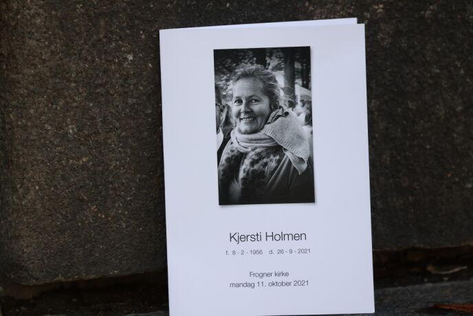 BISETTES: Kjersti Holmen gikk bort 26. september. Foto: Andreas Fadum/Se og Hør