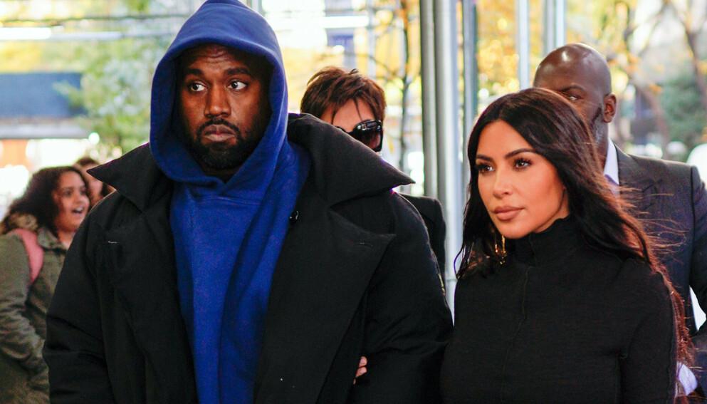 TIL SALGS: Kanye Wests Wyoming-ranch kan nå bli din, hvis du er villig til å punge ut. Her med ekskona Kim Kardashian i 2019. Foto: Jackson Lee / Splash News / NTB