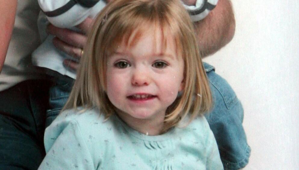 FORSVANT: Tre år gamle Madeleine McCann forsvant i Portugal i 2007. Foto: REX / Shutterstock Editorial / NTB