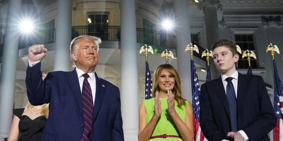 Image: Trump-sønnen som sunket i jorda
