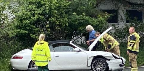 Image: Eggums bil krasjet